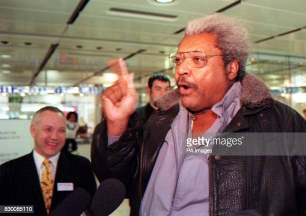 Largerthanlife American promoter Don King met with boxing manager Frank Maloney who represents WBC champion Lennox Lewis in London today after Mr...