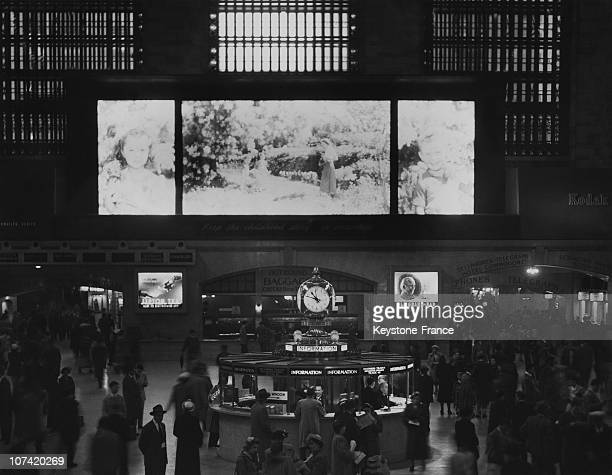 Largest Picture In Largest Station At Grand Central Station In Usa