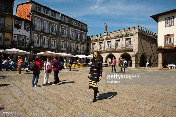 Largo do Toural is the heart of the Guimaraes city Portugal on April 2016 declared World Heritage Site by Unesco in 2011