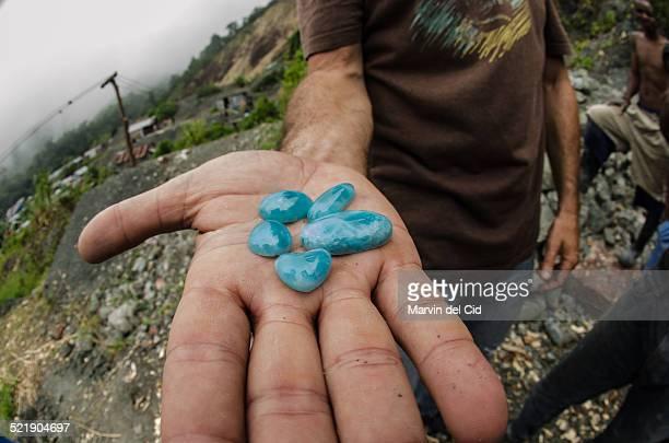 Larimar stones