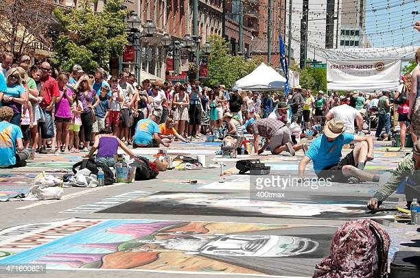 Larimer Square Chalk Festival