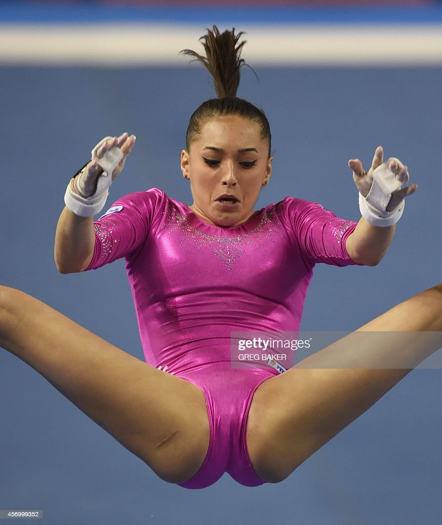 uneven bars oops larisa andreea iordache of romania performs on the