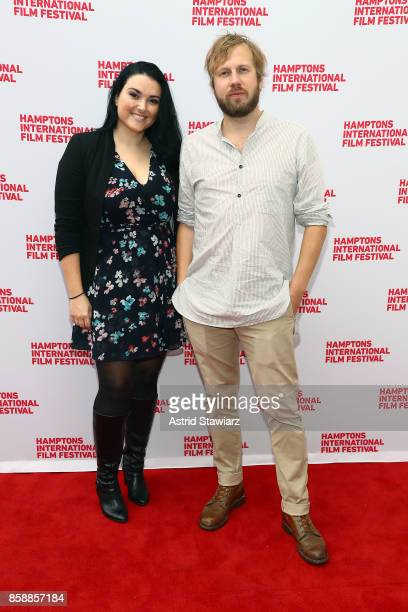 Larisa Apna and Hafsteinn Gunnar Sigurdsson attends a photocall for 'Under the Tree' during Hamptons International Film Festival 2017 Day Three on...