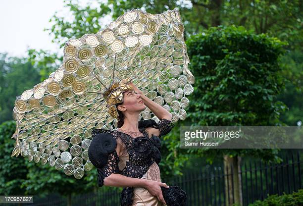 Larisa Katz attends Ladies Day on day 3 of Royal Ascot at Ascot Racecourse on June 20 2013 in Ascot England