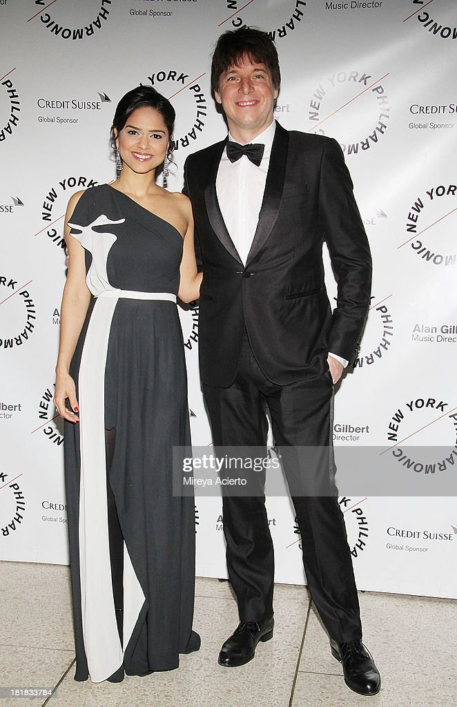 Larisa Martinez and Joshua Bell attend the New York Philharmonic 172nd Season Opening Night Gala at Avery Fisher Hall, Lincoln Center on September 25, 2013 in New York City.