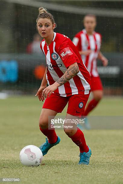 Larissa Crummer of Melbourne City runs with the ball during the round 10 WLeague match between Melbourne City FC and Perth Glory at CBSmith Reserve...
