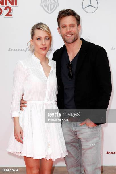 Larissa Duken and Ken Duken attend the 'Conni Co 2 Das Geheimnis des TRex' premiere on April 9 2017 in Berlin Germany