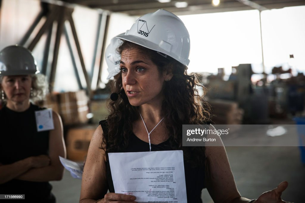 Larissa Gentile, a project manager at the Whitney Museum of American Art, gives a tour to members of the media of the Whitney's new building, which is still under construction, on June 26, 2013 in the Meat Packing District neighborhood of New York City. The museum, which is scheduled to open in 2015, will be nine stories tall and was designed by Renzo Piano Building Workshops. The estimated capital campaign, including building cost, endowments and the increase of instituional capacity, is $760 million.