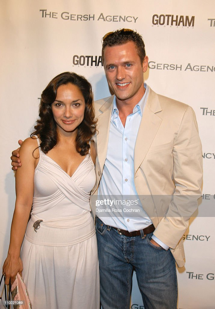 Larissa Gomes and <a gi-track='captionPersonalityLinkClicked' href=/galleries/search?phrase=Jason+O%27Mara&family=editorial&specificpeople=742824 ng-click='$event.stopPropagation()'>Jason O'Mara</a> during The Gersh Agency and Gotham Magazine Celebrate 2005 New York UpFronts at Bed in New York City, New York, United States.