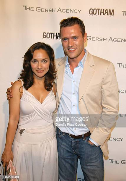 Larissa Gomes and Jason O'Mara during The Gersh Agency and Gotham Magazine Celebrate 2005 New York UpFronts at Bed in New York City New York United...