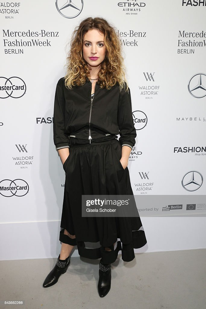 <a gi-track='captionPersonalityLinkClicked' href=/galleries/search?phrase=Larissa+Kerner&family=editorial&specificpeople=12959588 ng-click='$event.stopPropagation()'>Larissa Kerner</a> attends the Minx by Eva Lutz show during the Mercedes-Benz Fashion Week Berlin Spring/Summer 2017 at Erika Hess Eisstadion on June 29, 2016 in Berlin, Germany.