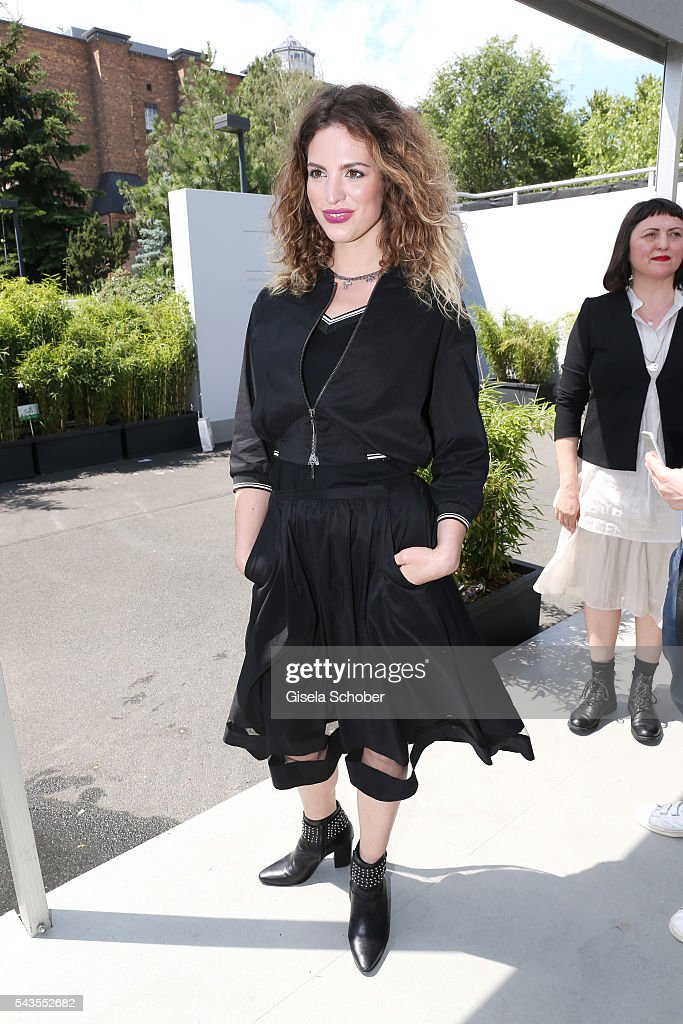 Larissa Kerner attends the Minx by Eva Lutz show during the Mercedes-Benz Fashion Week Berlin Spring/Summer 2017 at Erika Hess Eisstadion on June 29, 2016 in Berlin, Germany.