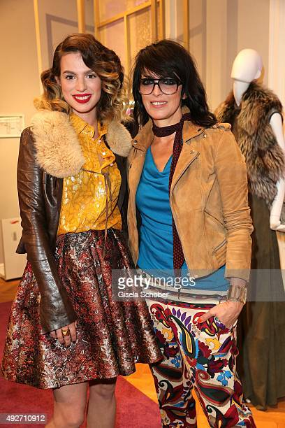 Larissa Kerner daughter of Nena and her mother singer Nena during the Talbot Runhof flagship boutique opening at Preysing Palais on October 14 2015...
