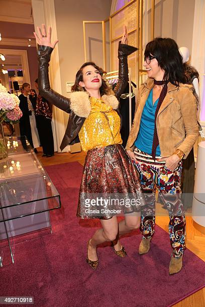 Larissa Kerner daughter of Nena and her mother singer Nena during the Talbot Runhof flagship boutique opening at Preysing Palais on October 14 2015...