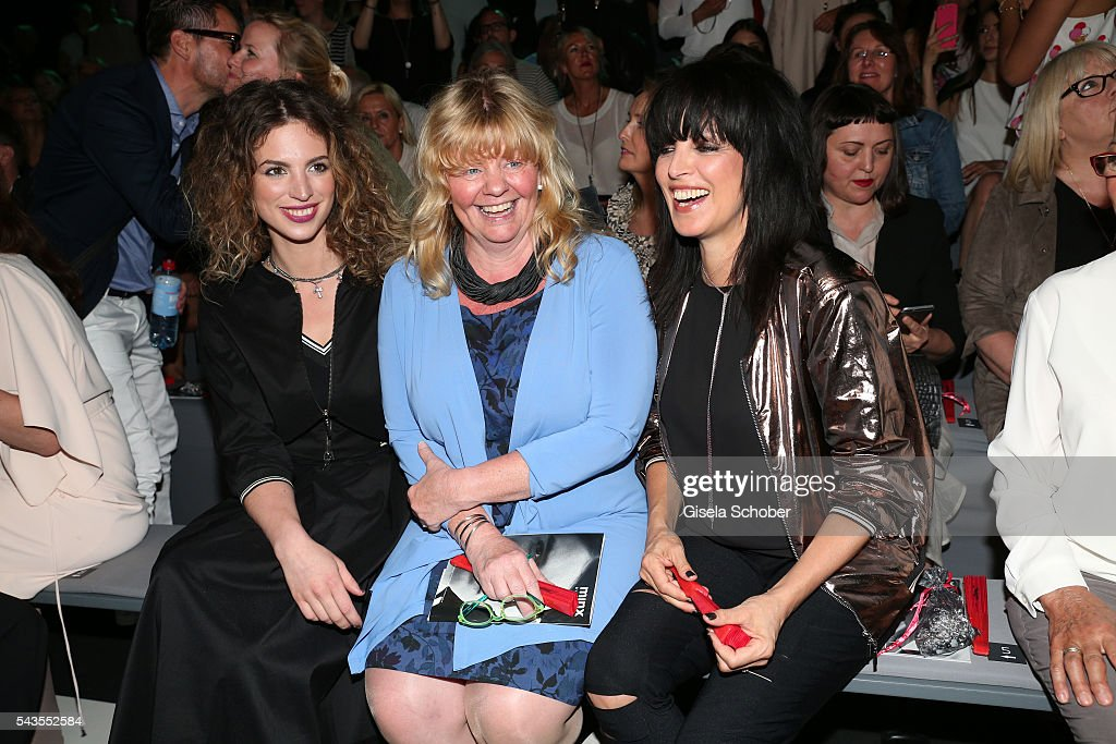 Larissa Kerner, Inger Nilsson and Nena attend the Minx by Eva Lutz show during the Mercedes-Benz Fashion Week Berlin Spring/Summer 2017 at Erika Hess Eisstadion on June 29, 2016 in Berlin, Germany.