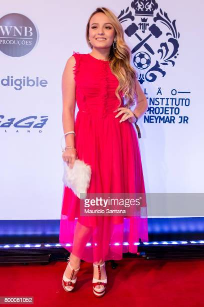 Larissa Manoela poses before a benefit auction at Hotel Unique on June 22 2017 in Sao Paulo Brazil