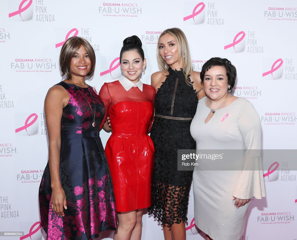 Larissa Podermanski, Krysta Rodriguez, Giuliana Rancic and Leslie Almiron attend The Pink Agenda 10th Annual Gala at Three Sixty Degrees on October 5, 2017 in New York City.