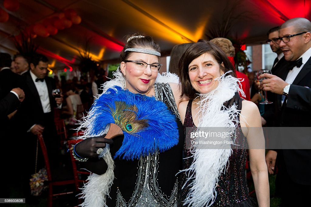 Larissa Priest and Leslie Whipkey show off their art deco inspired attire at the Hillwood Museum's annual gala on Tuesday, June 7, 2016. The gala celebrated the opening of the museum's latest exhibit 'DECO