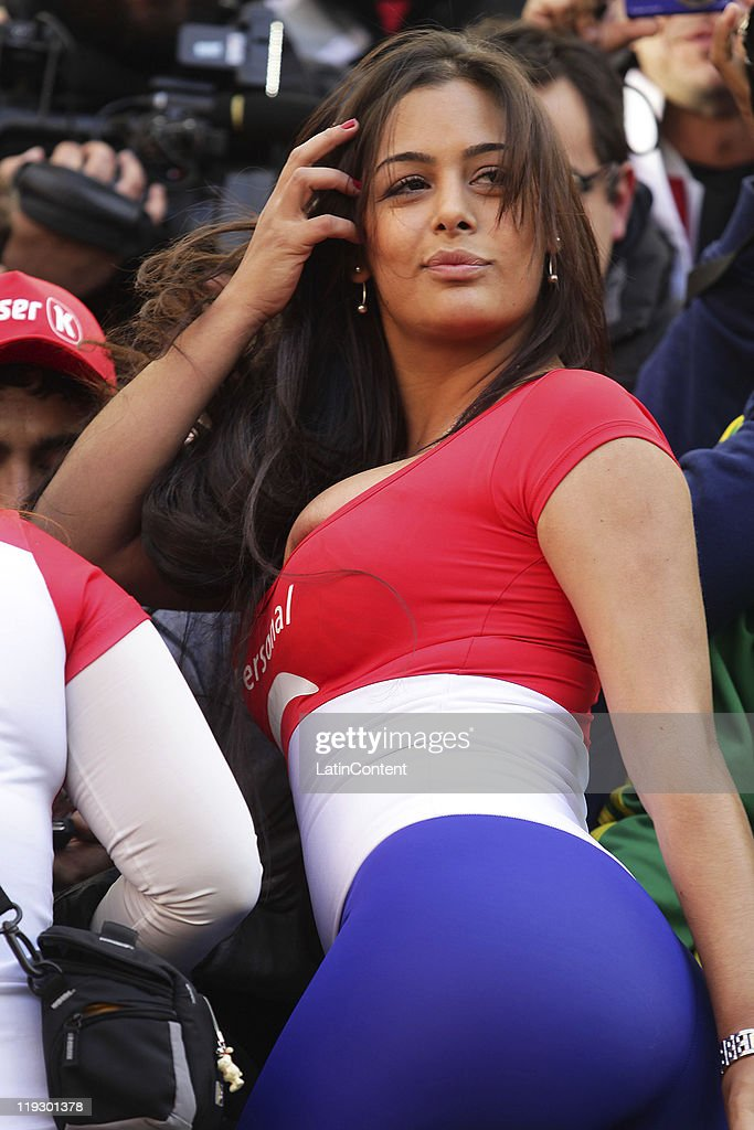 Larissa Riquelme 90mins from naked strip as Paraguay fight way ...