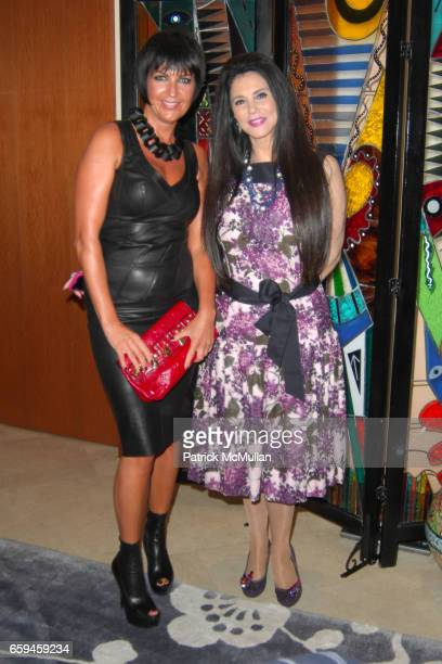 Larissa Sabadash and Barbara Lazaroff attend FRETTE Beverly Hills Designer Event at FRETTE on September 10 2009 in Beverly Hills California