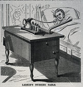 Larkin's Nursing Table The inventor of this nursing table has indeavore to afford greater confort to the sick by providing them with the means of...