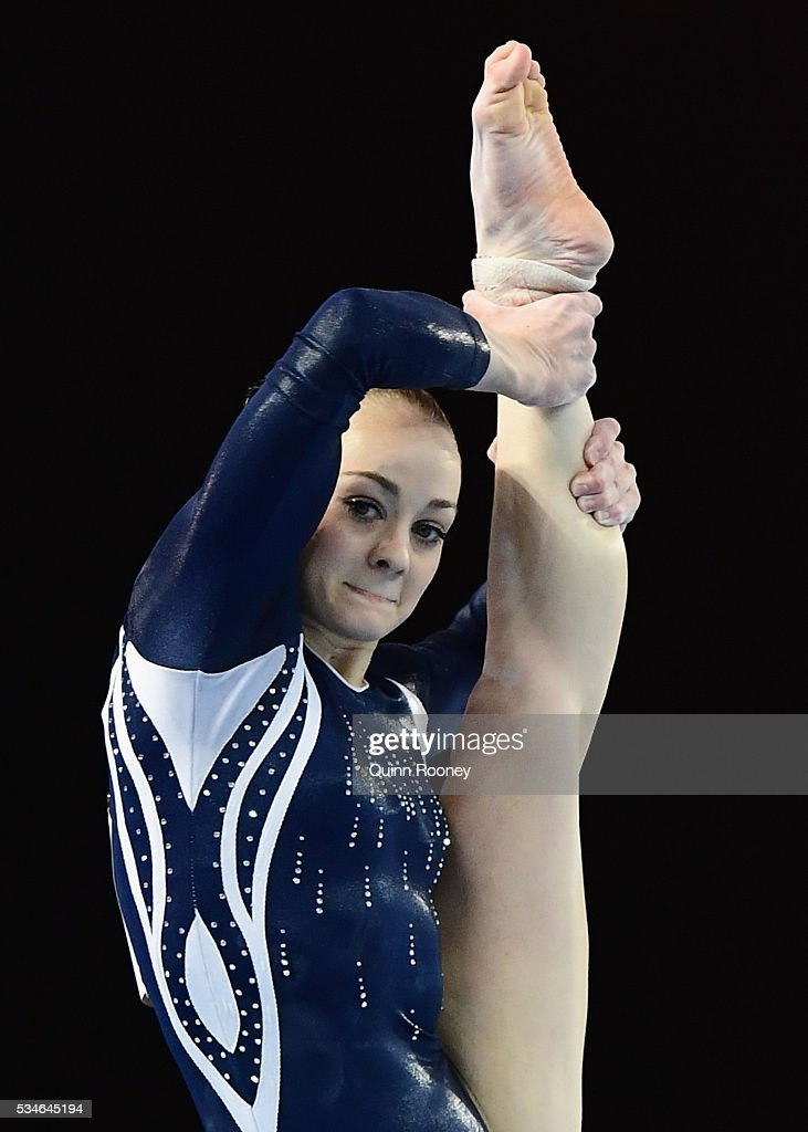 Larissa Miller of Victoria competes on the floor during the 2016 Australian Gymnastics Championships at Hisense Arena on May 27, 2016 in Melbourne, Australia.