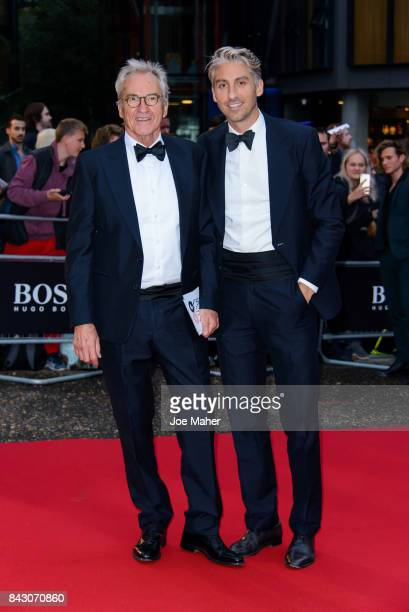 Larry and George Lamb attend the GQ Men Of The Year Awards at Tate Modern on September 5 2017 in London England