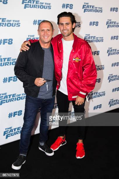 Larry and Jai Emdur arrives ahead of The Fate of the Furious Sydney Premiere on April 11 2017 in Sydney Australia