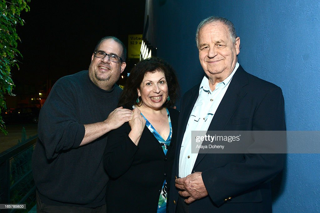 Larry Biederman, Winnie Holzman and <a gi-track='captionPersonalityLinkClicked' href=/galleries/search?phrase=Paul+Dooley&family=editorial&specificpeople=603577 ng-click='$event.stopPropagation()'>Paul Dooley</a> attend the opening night of 'Assisted Living' at The Odyssey Theatre on April 5, 2013 in Los Angeles, California.