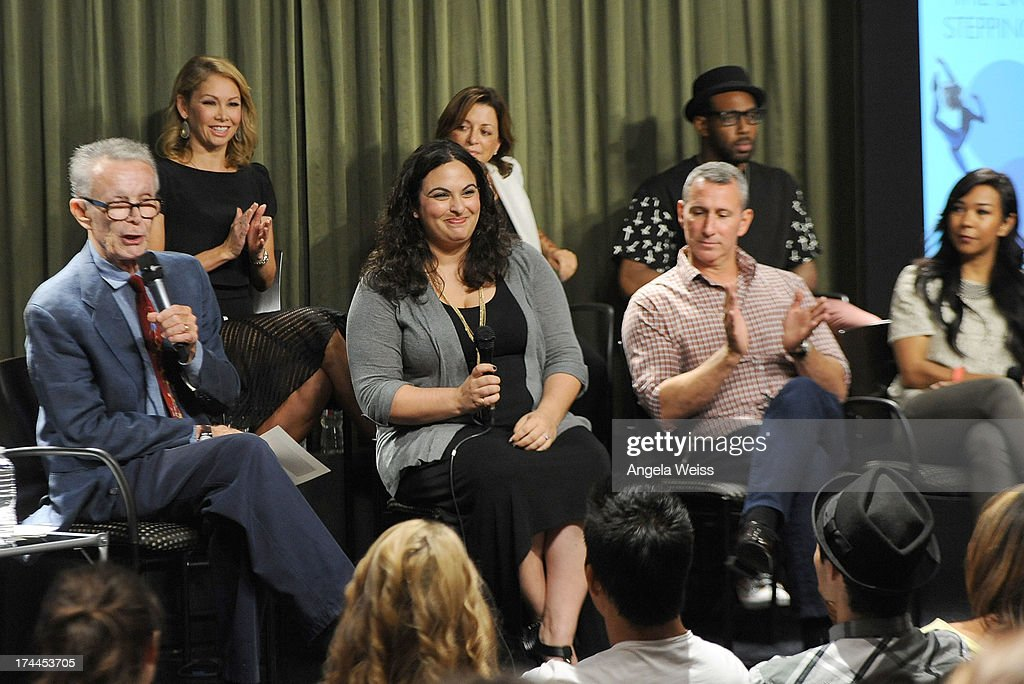 Larry Billman, Kym Johnson, Dayna Hasson, Julie McDonald, producer Adam Shankman, tWitch and Galen Hooks attend the Screen Actors Guild Foundation, SAG-AFTRA and Career Transitions for Dancers presents 'Dancers Forum' with Nigel Lythgoe, Cat Deeley, Adam Shankman, Kym Johnson, tWitch and more at SAG Foundation Actors Center on July 25, 2013 in Los Angeles, California.