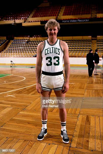 Larry Bird of the Boston Celtics poses for a photo before NBA game played in 1986 at the Boston Garden in Boston Massachusetts NOTE TO USER User...