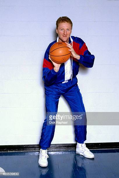 Larry Bird of the Boston Celtics poses for a portrait circa 1987 at the Boston Garden in Boston Massachusetts NOTE TO USER User expressly...