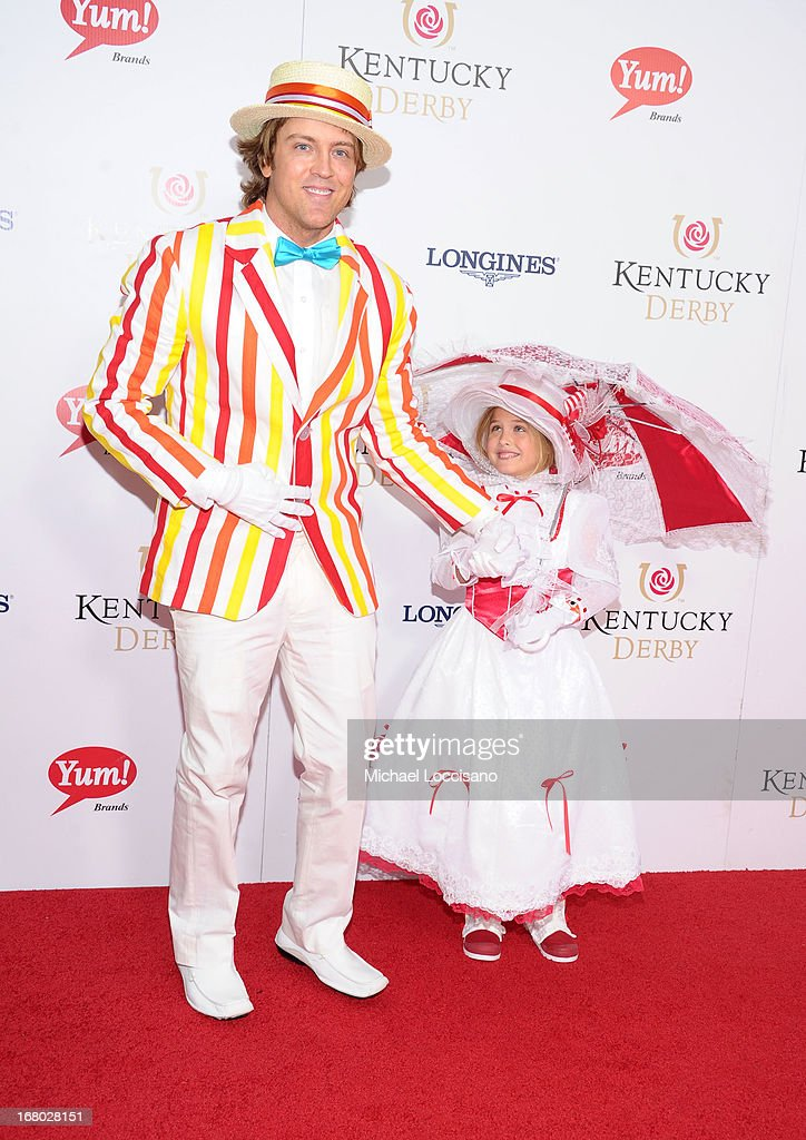 Larry Birkhead and Dannielynn Birkhead attend the 139th Kentucky Derby at Churchill Downs on May 4, 2013 in Louisville, Kentucky.