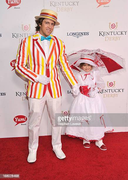 Larry Birkhead and Dannielynn Birkhead attend the 139th Kentucky Derby at Churchill Downs on May 4 2013 in Louisville Kentucky