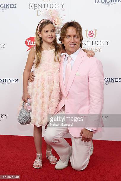 Larry Birkhead and Dannielynn Birkhead attend the 141st Kentucky Derby at Churchill Downs on May 2 2015 in Louisville Kentucky