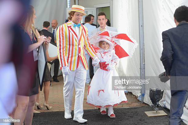 Larry Birkhead and daughter Dannielynn Birkhead attend the 139th Kentucky Derby at Churchill Downs on May 4 2013 in Louisville Kentucky