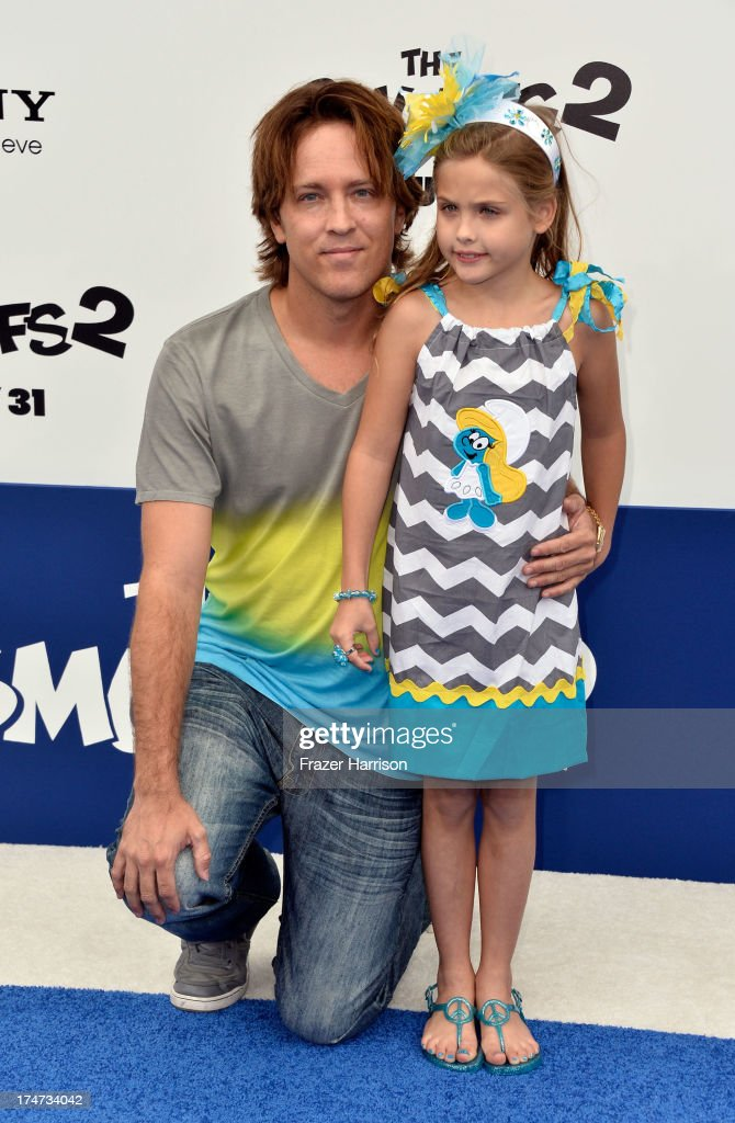 <a gi-track='captionPersonalityLinkClicked' href=/galleries/search?phrase=Larry+Birkhead&family=editorial&specificpeople=4145280 ng-click='$event.stopPropagation()'>Larry Birkhead</a> and daughter Dannielynn Birkhead attend the premiere of Columbia Pictures' 'Smurfs 2' at Regency Village Theatre on July 28, 2013 in Westwood, California.