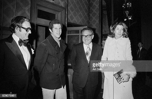Larry Blyden and Tony Roberts Henry Kissinger and wife Nancy circa 1960 New York