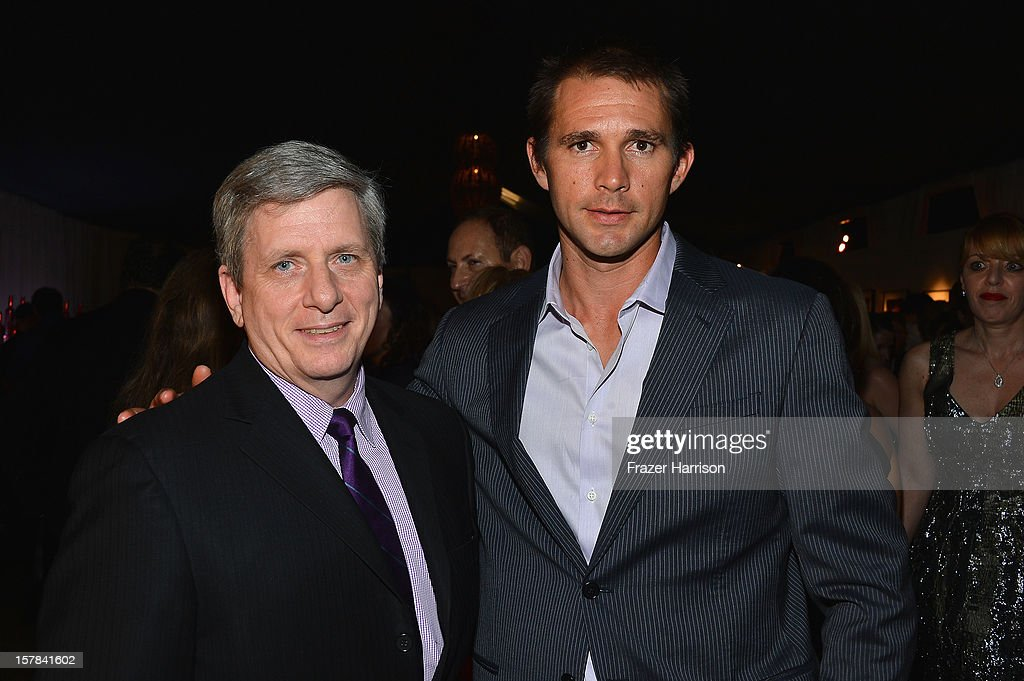 Larry Boland and Jeff Hall attend the amfAR Inspiration Miami Beach Party on December 6, 2012 in Miami Beach, United States.