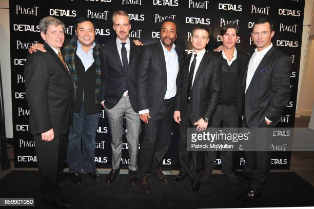 Larry Boland David Chang Michael Bastian Lee Daniels Jeremy Renner Nick Roldan and Jeffrey Donovan attend PIAGET Men to Watch at Lehmann Maupin...