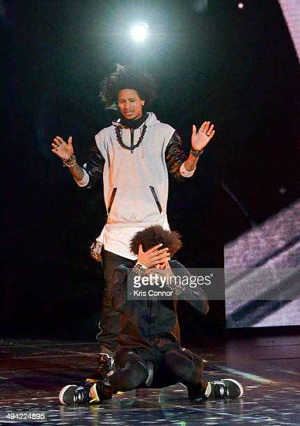 Larry Bourgeois and Laurent Bourgeois of Les Twins perform during YouTube On Stage Live from the Kennedy Center at The John F Kennedy Center for...