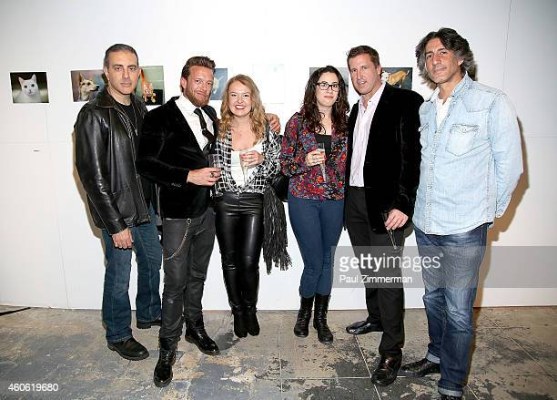Larry Busacca Jamie McCarthy Martyna Borkowski Tracy Nolan Leeds Dave Kotinsky and Dimitrios Kambouris attend a pet portrait exhibition by Getty...