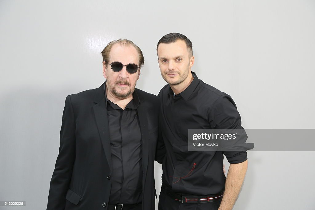 Larry Clark and Kris Van Assche pose in the backstage before the Dior Homme Menswear Spring/Summer 2017 show as part of Paris Fashion Week on June 25, 2016 in Paris, France.