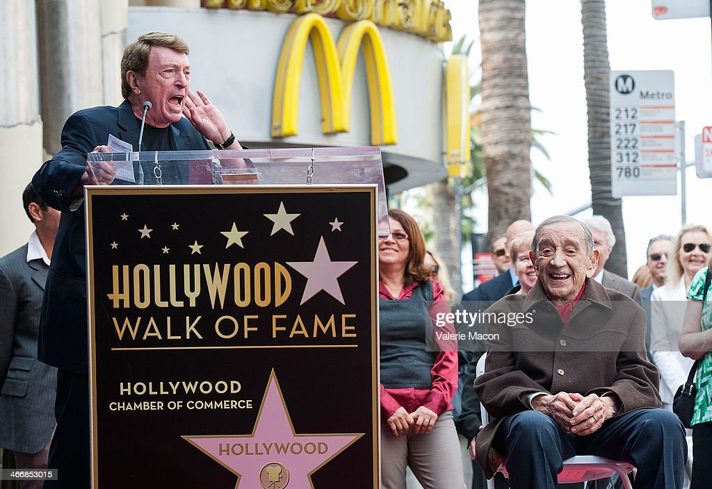 Larry Cohen and Jack H Harris attend the ceremony honoring Jack H Harris on THe Hollywood Walk of Fame on February 4 2014 in Hollywood California