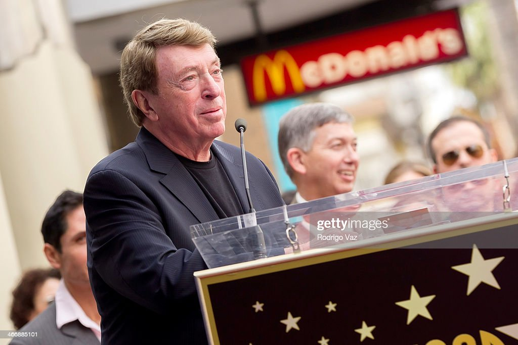 Larry Cohen attends as producer Jack H Harris honored with a Star on The Hollywood Walk of Fame on February 4 2014 in Hollywood California
