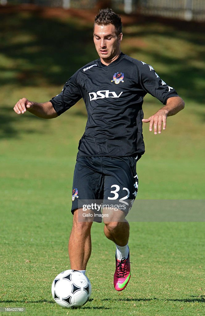 Larry Cohen in action during a SuperSport United media open day at Groenkloof Sports Campus on April 04 2013 in Pretoria South Africa