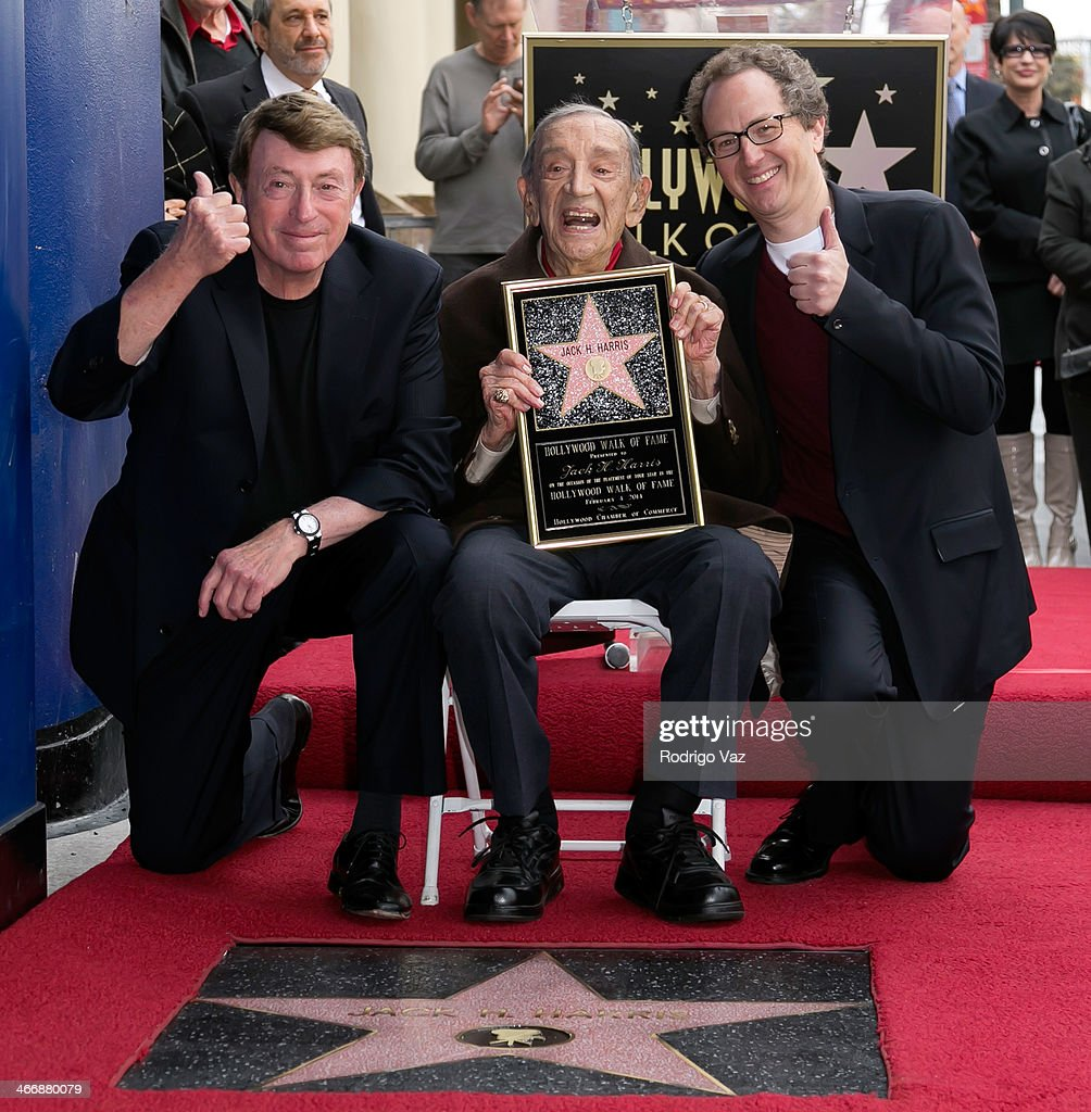 <a gi-track='captionPersonalityLinkClicked' href=/galleries/search?phrase=Larry+Cohen&family=editorial&specificpeople=238848 ng-click='$event.stopPropagation()'>Larry Cohen</a>, Jack H. Harris and Brian Witten attend as producer Jack H. Harris is honored with a Star on The Hollywood Walk of Fame on February 4, 2014 in Hollywood, California.