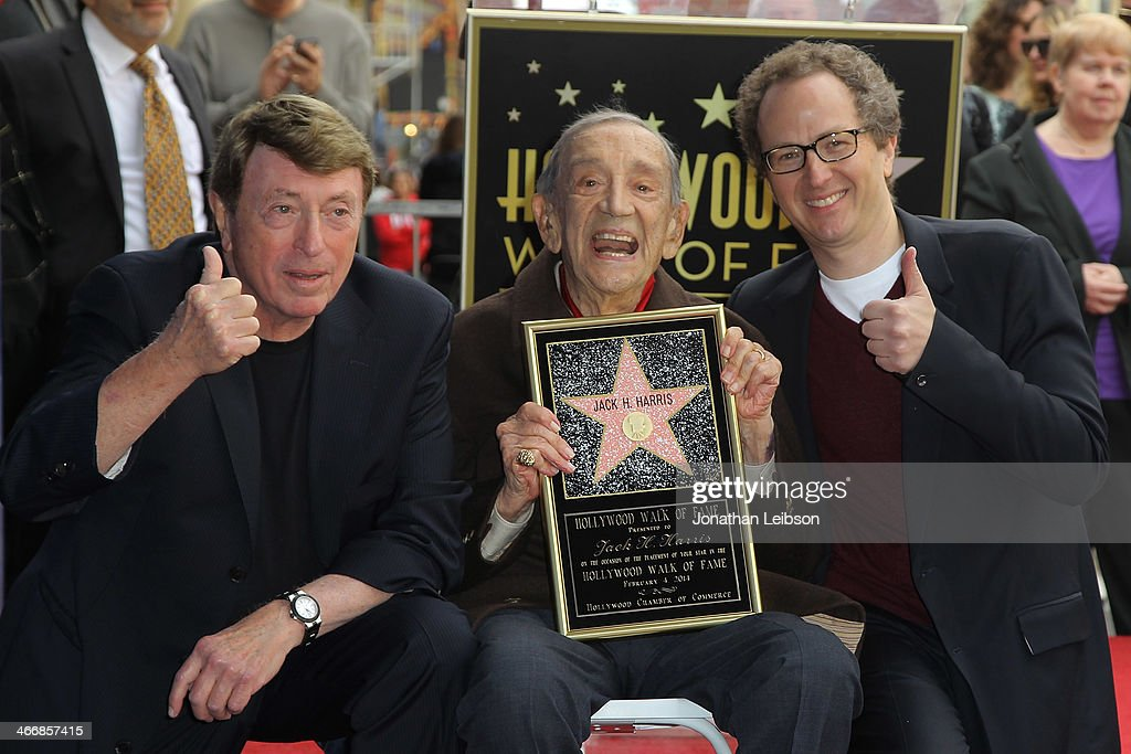 Larry Cohen Jack H Harris and Brian Witten attend Film Producer Jack H Harris being honored with Star On The Hollywood Walk Of Fame on February 4...