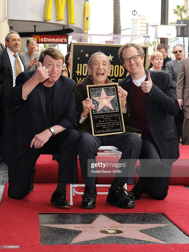 Larry Cohen Jack H Harris and Brian Witten attend the ceremony honoring producer Jack H Harris with a Star on the Hollywood Walk of Fame on February...