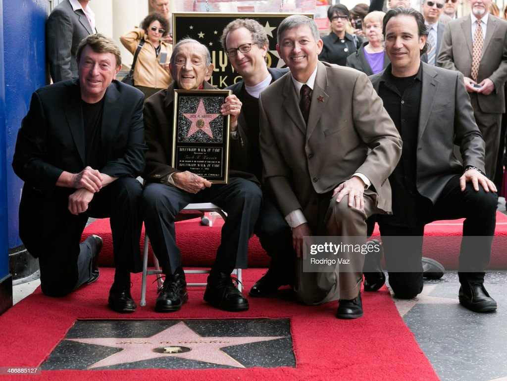 Larry Cohen Jack H Harris Brian Witten and Leron Gubler attend as producer Jack H Harris honored with a Star on The Hollywood Walk lof Fame on...